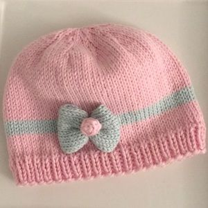 Baby hand-knitted hat